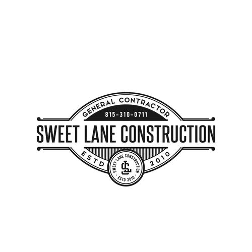 Vintage Logo concept for Sweet Lane Construction