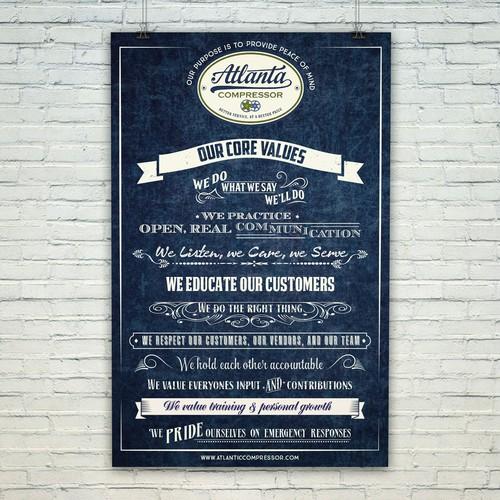 vintage inspired poster