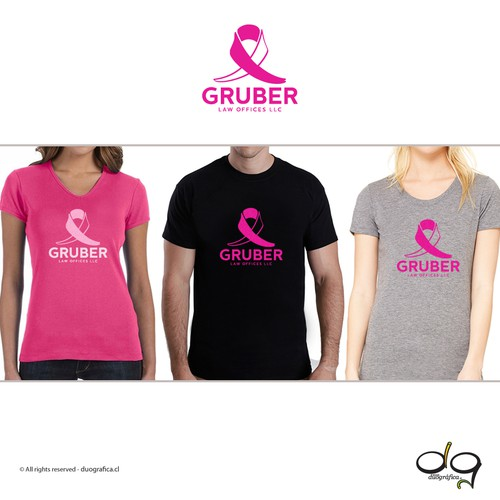 T-shirt logo for a breast cancer race
