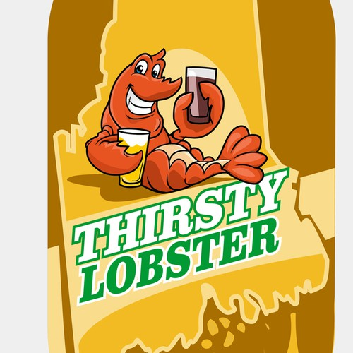logo with lobster
