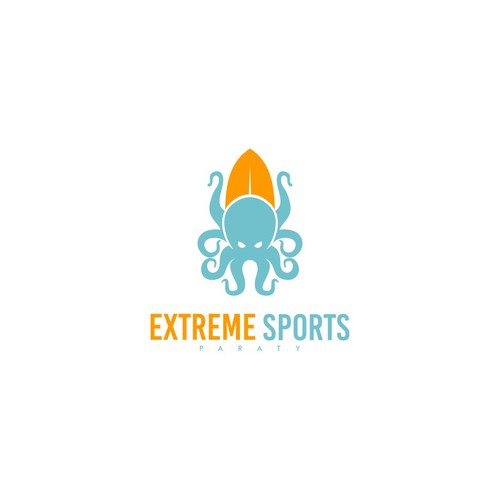 Extreme Sports Paraty is starting its business and needs a great logo with an octopus as its mascot