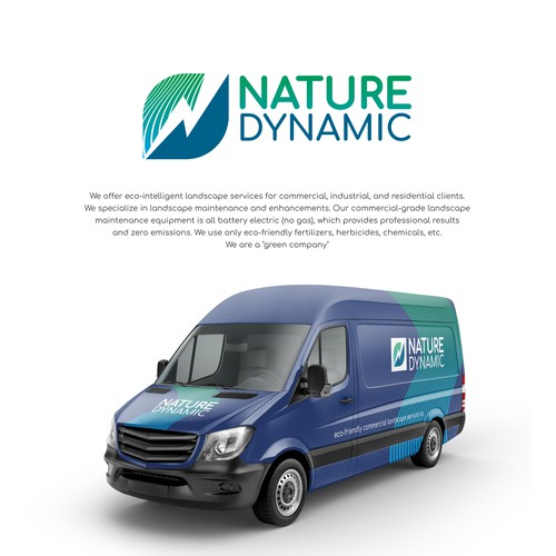 Logo for progressive, eco-friendly commercial landscape service co.