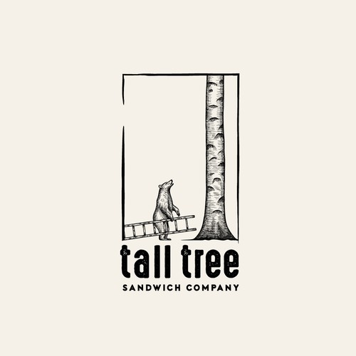 Tall Tree Sandwich Company logo design