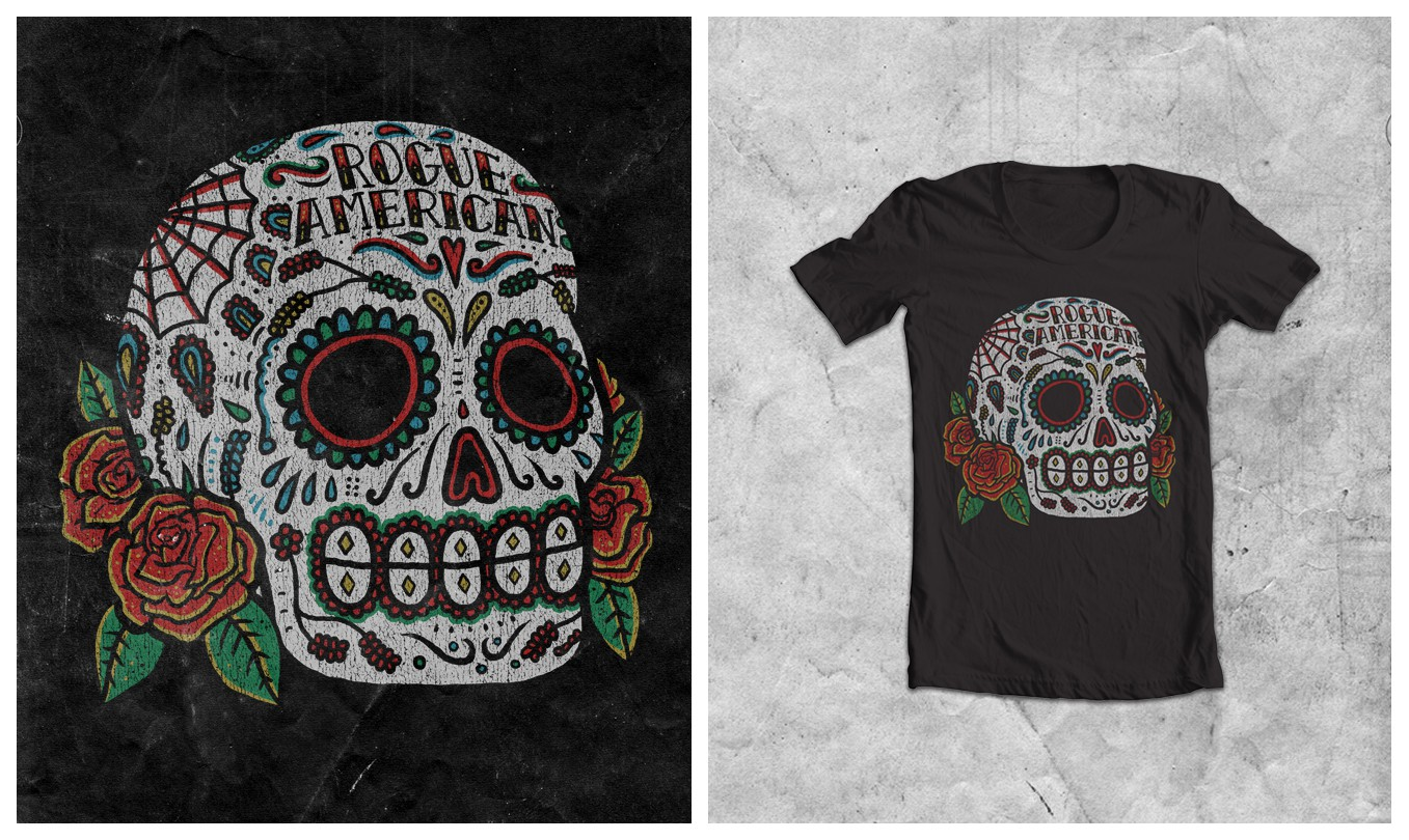 t-shirt design for rogu