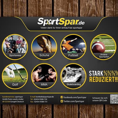 Sportspar.de benötigt ein postcard or flyer