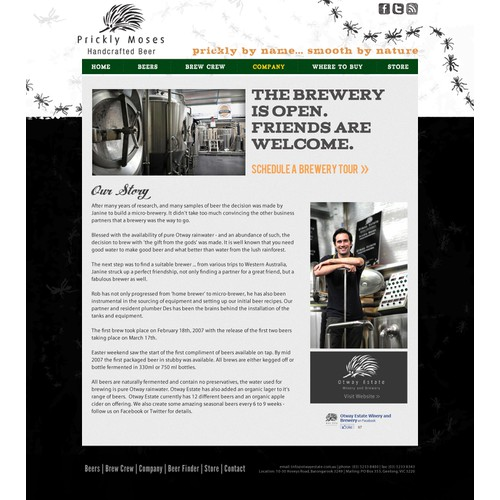 New website design wanted for Prickly Moses Handcrafted Beer