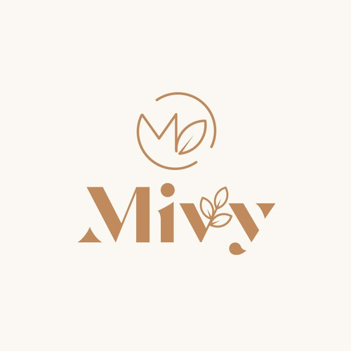 An organic monogram based logo for a company which creates elegant products mostly made of paper