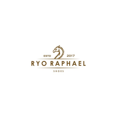 Classic and luxurious logo concept for shoe brand