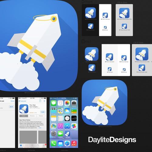 Create Simplicity for Retail Rocket app icon/ logo