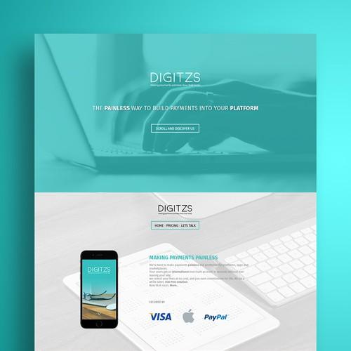 Online Payment web design