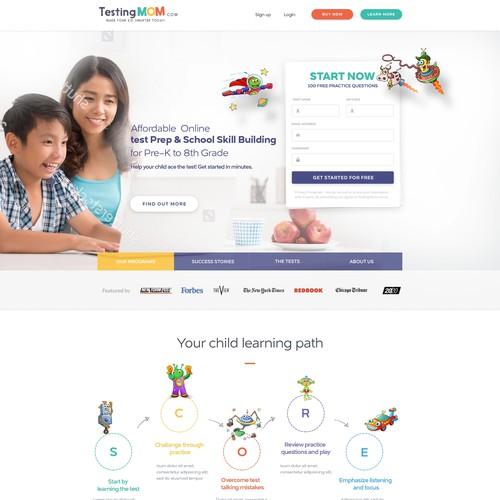 testing mom website