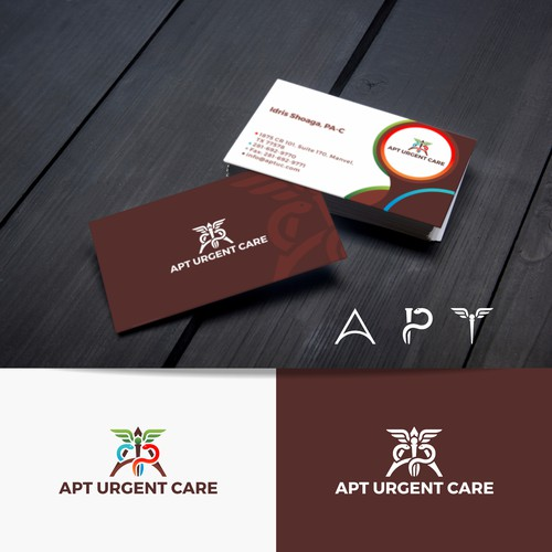 Logo and Business Card Design for Urgent Care Organization