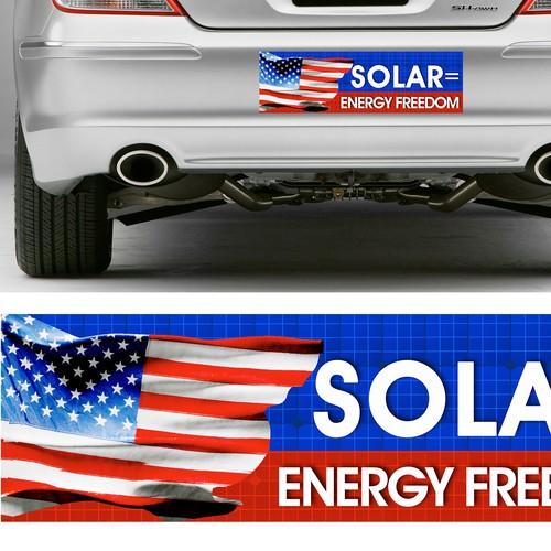 Solar Bumper Sticker Design