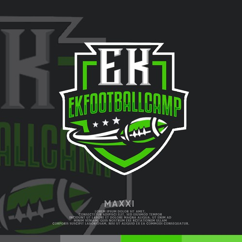 Football camp logo