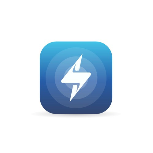 Clean and Simple App Icon for Electricity Apps