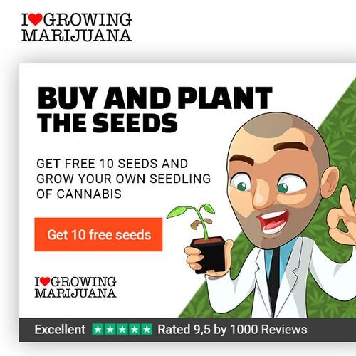 2 Banners for Marijuana Seed Bank