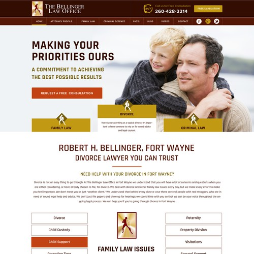 The Bellinger law office web site