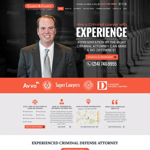Clancy Law Firm Website