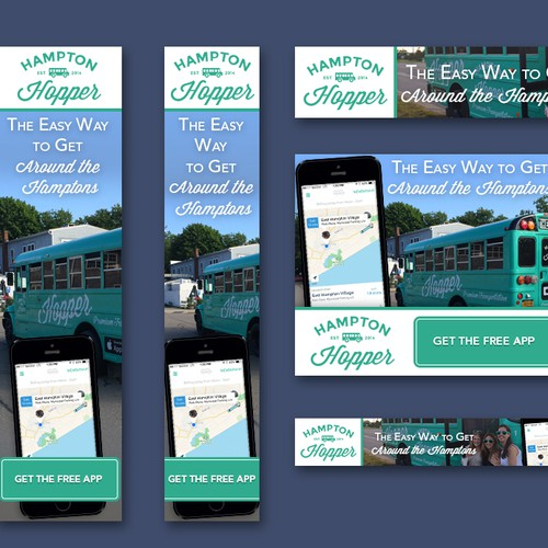 5 Standard Banner Ads for Google Adwords Needed for Hampton Hopper