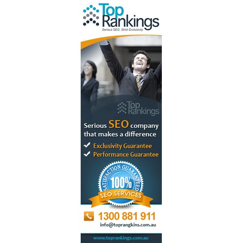 Top Rankings SEO Banner Design