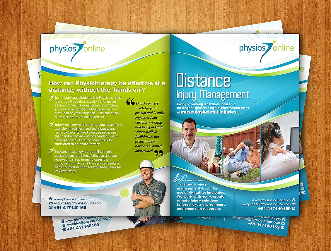Physios Online needs a new brochure design