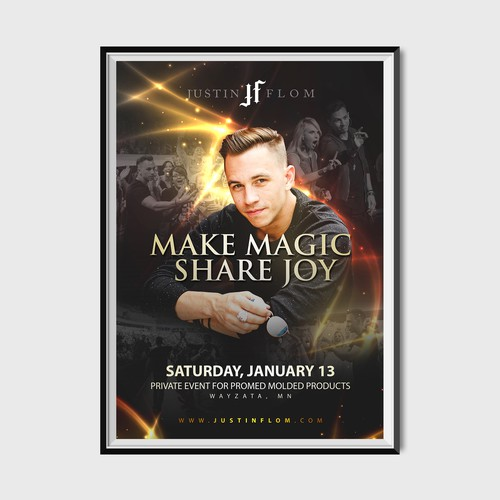 Justin Flom Magician Poster Design