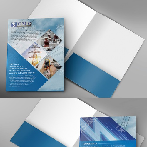 Creative and modern Designs reflecting Core Business Activities for EMC Brochure