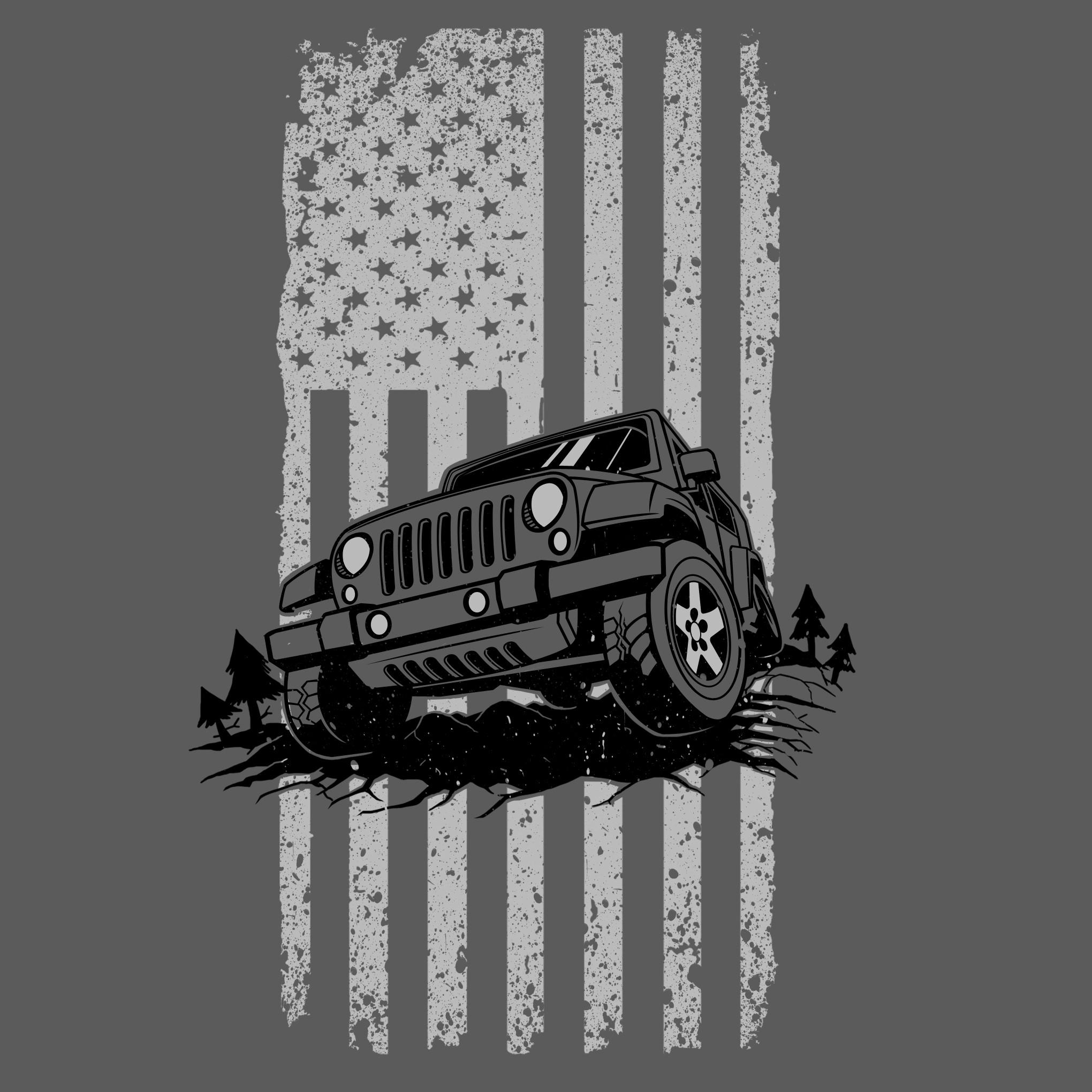Create Tough-Looking Jeep Distressed USA Flag Design