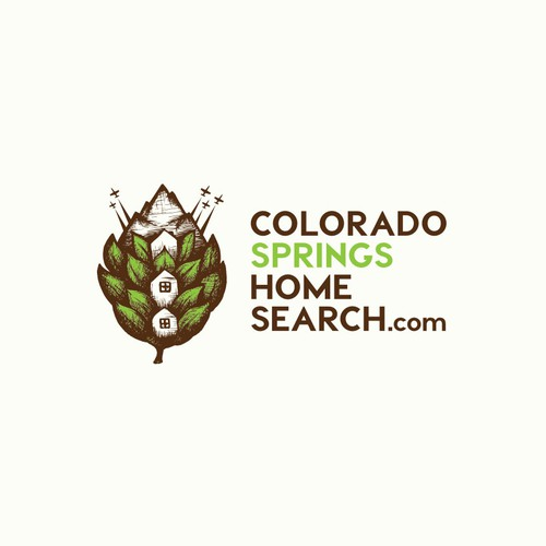 Logo concept for Colorado Springs Home Search.