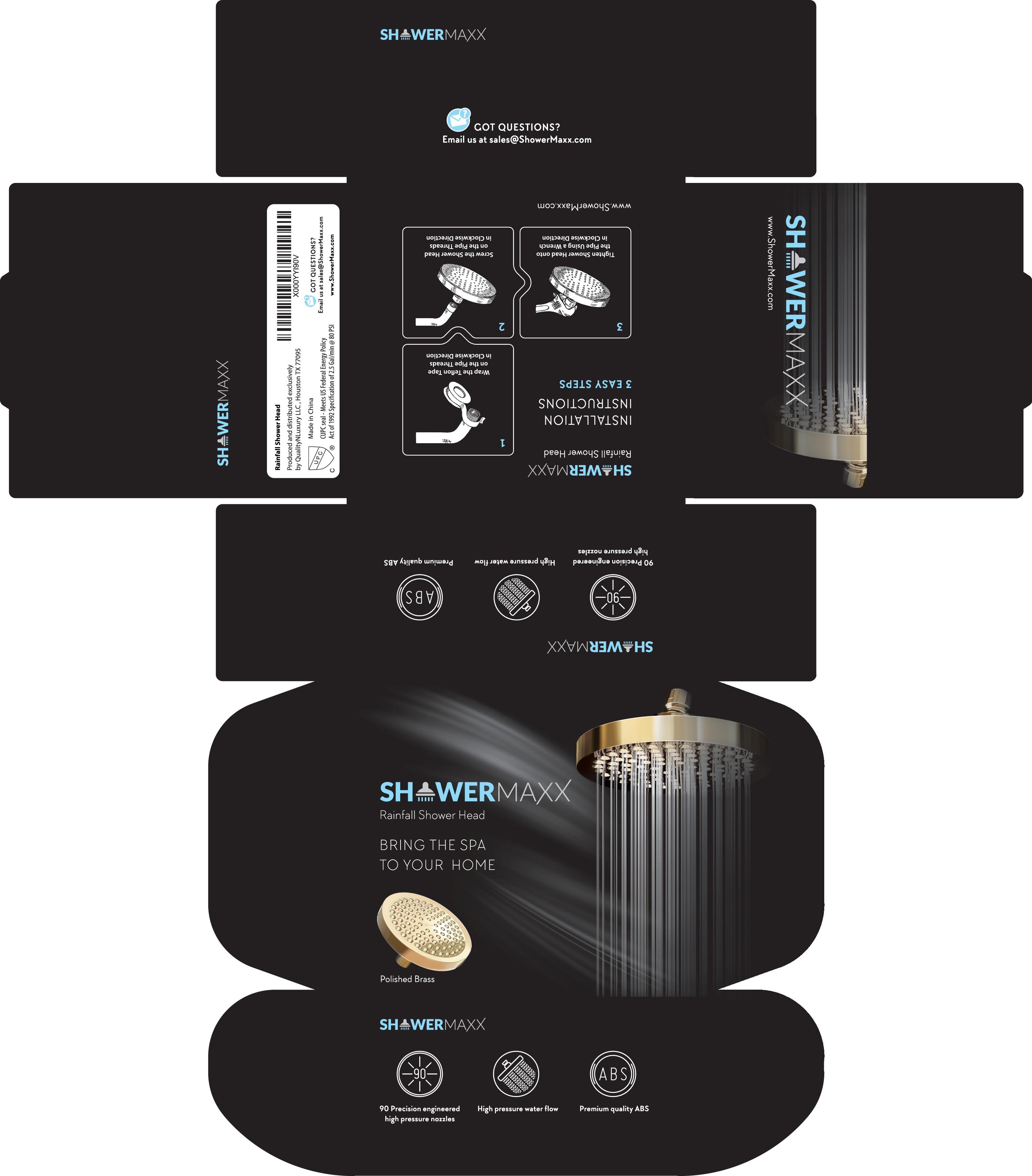 Premium Packaging for ShowerMaxx