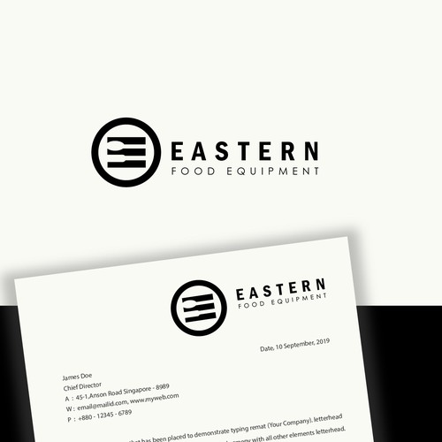 Food equipment logo design