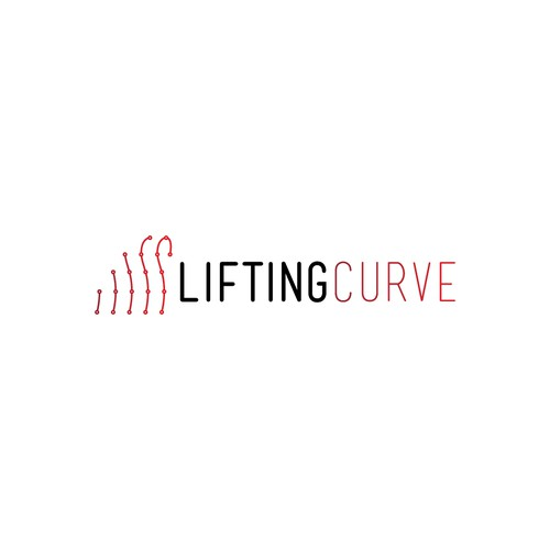 Simple logo design of weightlifting education company
