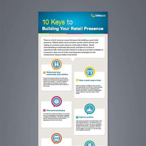 Create a compelling Infographic that will appeal to consumer product marketers