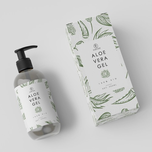 Label for Aloe Vera Gel