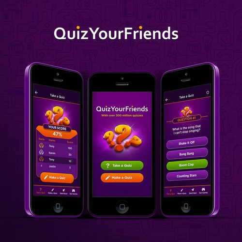 Create the new look of QuizYourFriends!