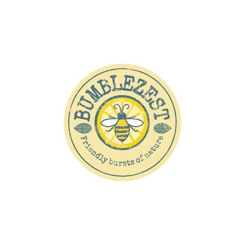 Design a friendly but premium looking logo for BumbleZest