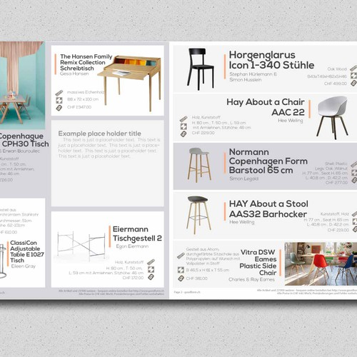 clean furniture brochure
