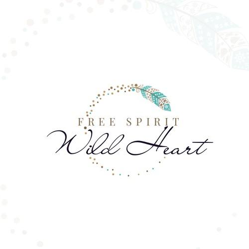 New age bohemian logo for Free Spirit Wild Heart