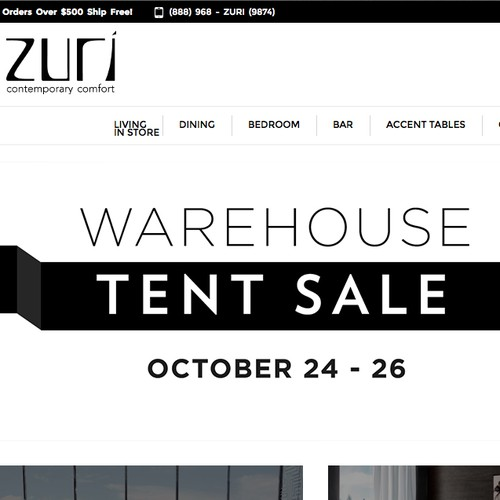 Zuri needs a new ad for homepage