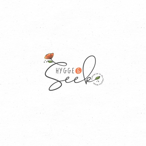 Logo for a joyful flower shop