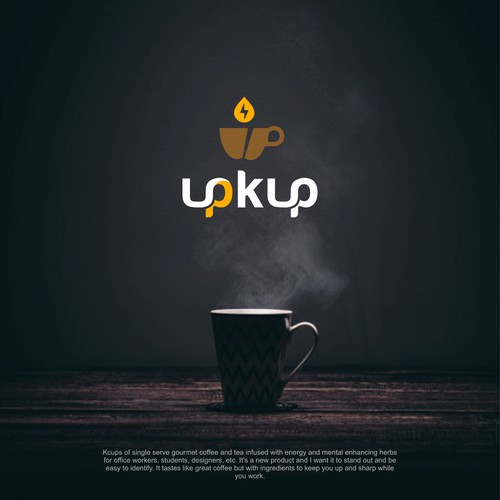 logo for brand upkup coffee and tea