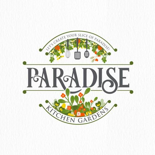 Creative logo for Paradise Kitchen Garden
