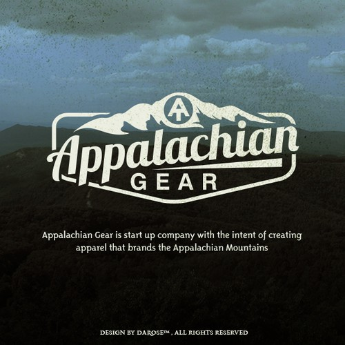 Vintage logo that captures the Appalachian Mountains.