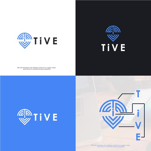 Tive location pin logo.