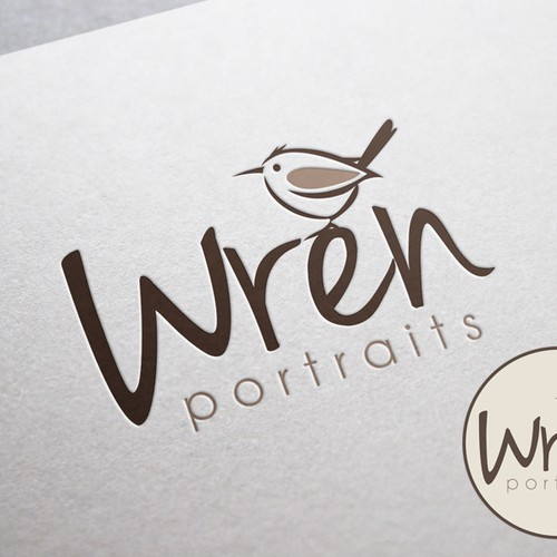 Fun logo for Wren Portraits