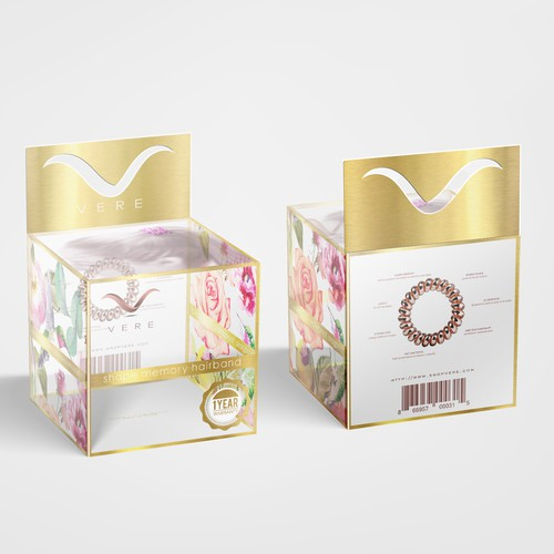 Vere hair packaging design