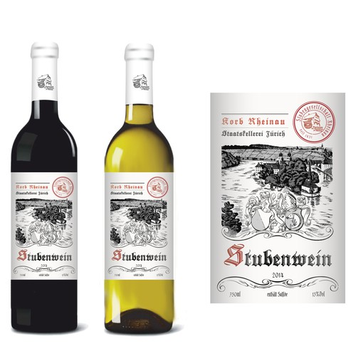 Wine label for a non profit organisation founded in the year 1431
