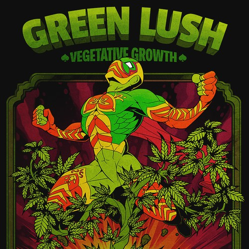 """Green Lush"" label design"
