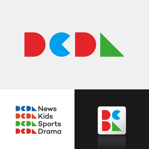 Brand identity concept for internet TV channel network.