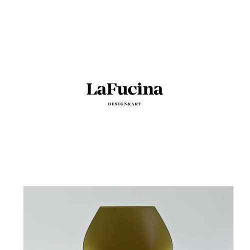 Logo for LaFucina; art&design from Italy
